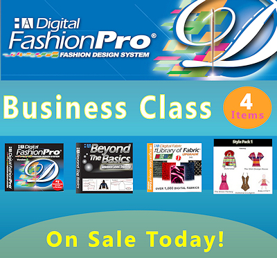 Digital Fashion Pro Business Class can be used to create technical fashion sketches